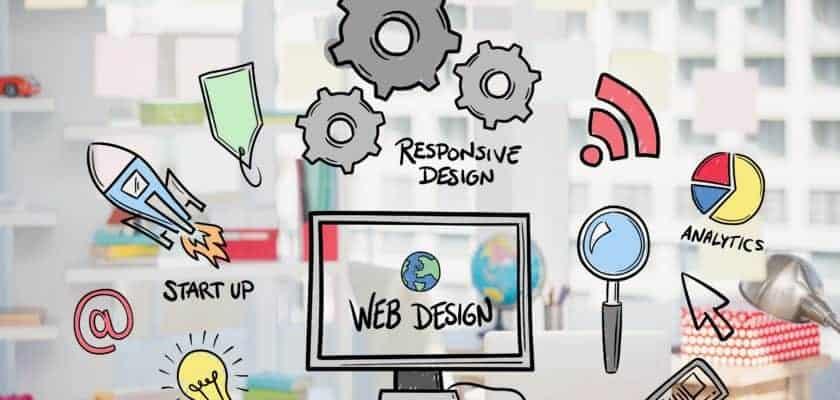 digital composite of business graphics with office background diseño web méxico Lo más nuevo del diseño web México OAYTMM0 840x400